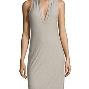 James Perse grey v henley neck tank dress